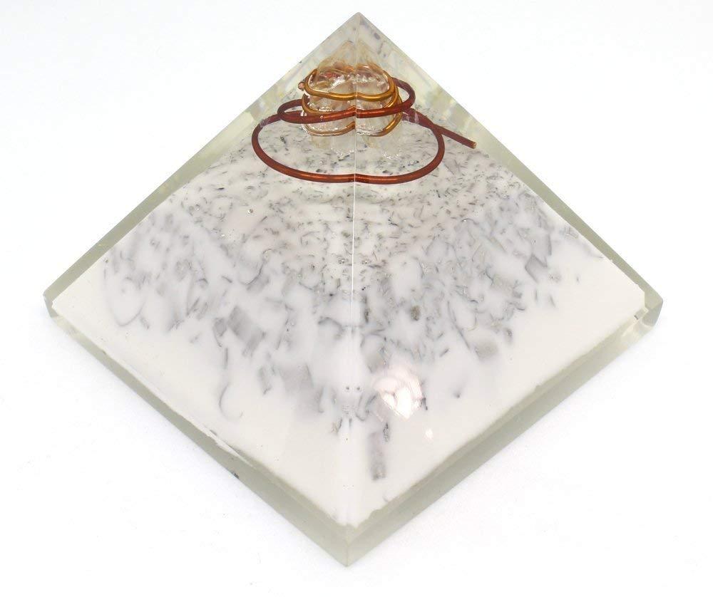 Orgone Pyramid Energy Generator - Orgonite Crystal Pyramid with Aluminium White Pigment for EMF Protection - Chakra Balancing - Healing - Meditation - Yoga