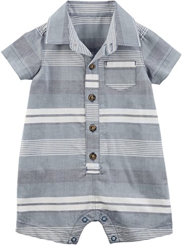 Adorable Baby Boy Clothes - Carter's Baby Boys Whale Schiffli Creeper (18 Months, Blue Poplin)
