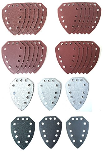 30 Mouse Sanding Sheets to fit Parkside Hand Sander PAHS 10.8 A1 XQ/² PAHS 12 A1,PHS 160 A1 PHSZ30C3 and PHSZ18C3 PMS 130 PHSZ30B2 XQ/² Dimensions as PHSZ30A1 SE PHS 160 B2 PHS 160 B3