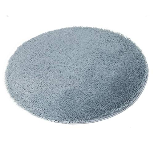 (Round Area Rugs Solid Color Super Soft Living Room Bedroom Home Shaggy Carpet Multi-Color Multi-Size)