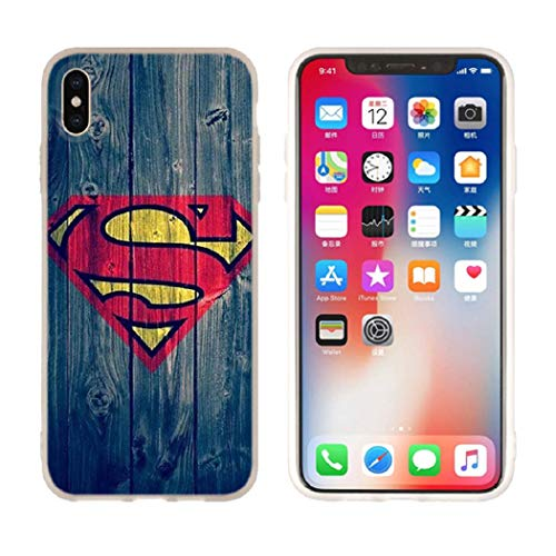 Aestgirl iPhone Case for Superman iPhone Xs Max Hero Case Superman Blue Case AC205 (Superman_Blue, Xs -