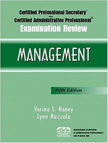 Amazon certified professional secretary and certified amazon certified professional secretary and certified administrative professional examination review management 5th edition paperback fandeluxe Images