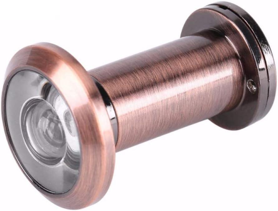 200 grados de ángulo de visión amplio Mirilla Puerta de seguridad espectadores 14mm agujero oculto mirilla ajustable Hardware Herramientas lente de cristal (Color : Red Bronze)