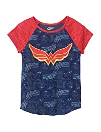 DC Super Hero for Girls T Shirt Wonder Woman WW Shield Logo Tee