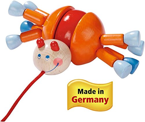 Pulling Animal (HABA Crab Calino Classic Wooden Pulling Animal (Made in Germany))