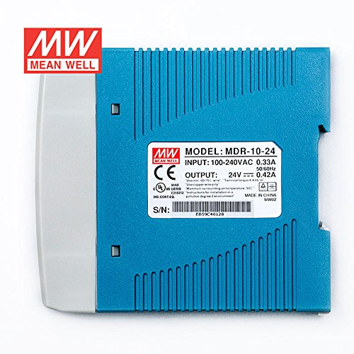 MEAN WELL MDR-10-24 DIN Rail Power Supply 10W 24V 0.42A Low No-load Loss by MEAN WELL (Image #1)