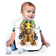 Just Add A Kid Baby Boy's Race Horse 074 Baby Bib 0-6 Months White
