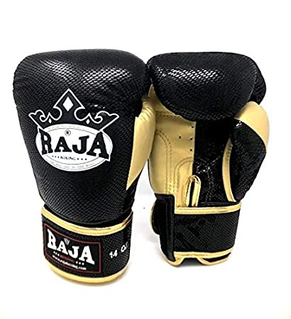 Amazon com : Raja Boxing Gloves Premium 1 Leather MMA UFC