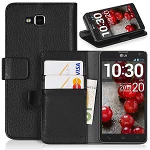 DONZO Wallet Structure Funda para LG Optimus L9 II D605 negro