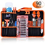 Electronic Repair Tool Kit,90 in 1 Precision Magnetic Screwdriver Set for Fix iPhone,Ipad,Phone,Computer,PC,MacBook,Tablet,Watch