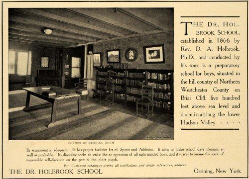 1906 Ad Dr. Holbrook Preparatory School for Boys Room - Original Print - Westchester Kids