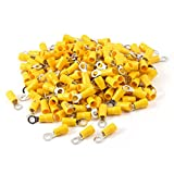 200pcs RV5.5-5 Pre Insulated Sleeve Ring Cable Terminals for AWG 12-10