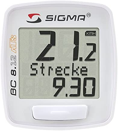 Sigma Bc8.12 ATS Inalambrico Ciclocomputadores, Unisex, Blanco, M ...