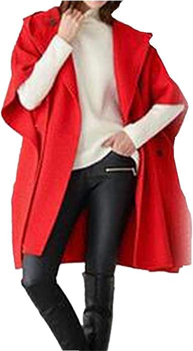 KCatsy Femme Plus La Taille Surdimensionné Cape Blouson