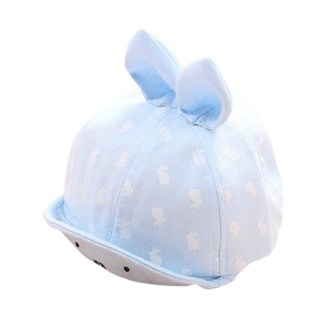 Baby Boy Girl Cute Hat Infant Cotton Soft Warm Cap Beanie (Light Blue)