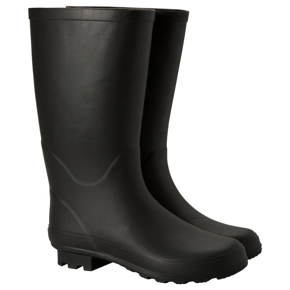 Mountain Warehouse Stream Womens Wellies -Waterproof Wellington Boots Black 7 M US Women