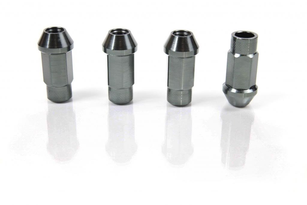 Gun Metal - Anodized Aluminum - 50mm Racing Wheel Open End LUG NUT for HUMMER 06-Present H3, H3X, H3 ALPHA BASE LUXURY