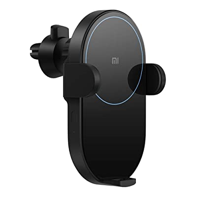 Xiaomi Wireless Car Charger 20W Max Power Inductive Electric Clamp Arm Double Heat Dissipation Fast Charging (Black): Home Audio & Theater [5Bkhe1512659]
