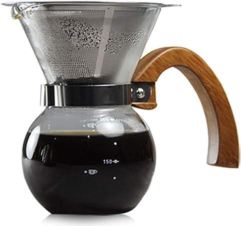 Cafetera Lavadora de Manos Olla de Goteo Filtro de café Papel sin Filtro Doble Capa 304 Filtro de Acero Inoxidable: Amazon.es: Hogar