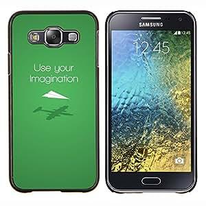 EJOOY---Cubierta de la caja de protección para la piel dura ** Samsung Galaxy E5 E500 ** --Usa tu imaginación