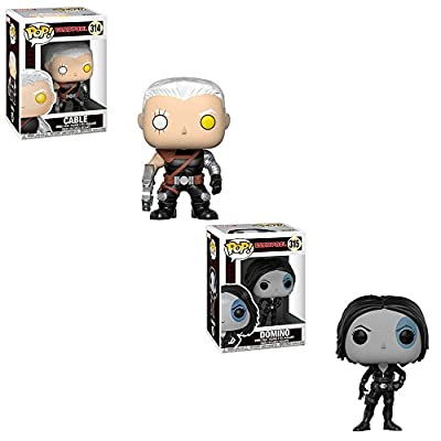 Funko POP! Marvel Comic Deadpool: Cable and Domino Toy Action Figure - 2 POP BUNDLE: Toys & Games
