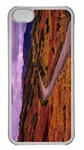 Customized iphone 5C PC Transparent Case - Winding Road Personalized Cover