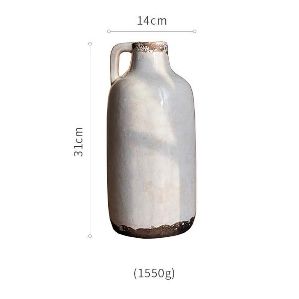 セラミック花瓶用花緑植物結婚式の植木鉢装飾ホームオフィスデスク花瓶花バスケットフロア花瓶 (サイズ さいず : L l) B07RJJK5TW  L l