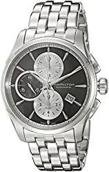 Hamilton Men's 'Jazzmaster' Swiss Automatic Stainless Steel Watch, Color:Silver-Toned (Model: H32596181)