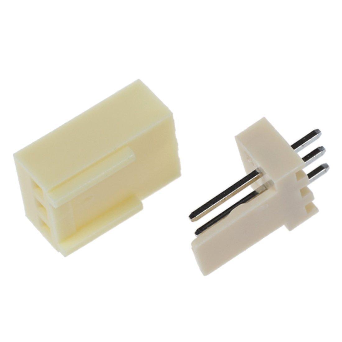 50Stueck KF2510-3P 2,54 mm PCB Header-3Pin Anschluss Crimp Terminal Housing R Anschluss stecker SODIAL