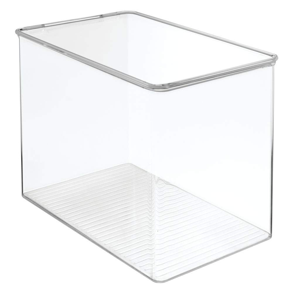 for Blocks mDesign Kids//Baby Toy Storage Box Play Kitchen Pieces Tall Pack of 2 Clear Costumes