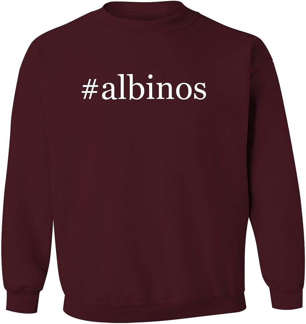 #Albinos - Men'S Hashtag Pullover Crewneck Sweatshirt, Maroon, Small
