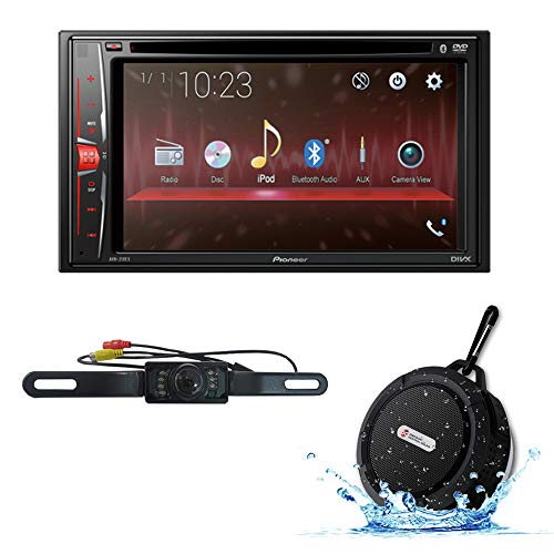 2018 Pioneer Car Audio Double Din 2DIN 6.2 Touchscreen DVD MP3 CD Stereo Built-in Bluetooth with DiscountCentralOnline HL09 Waterproof Nightvision Back-up Camera (Car Stereo Double Din 2018)