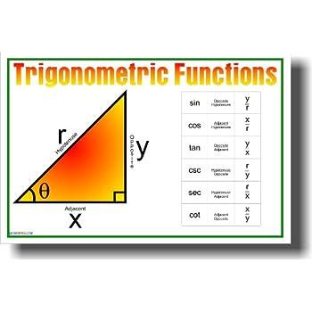 Amazon.com: Trigonometric Functions - Classroom Math Poster ...