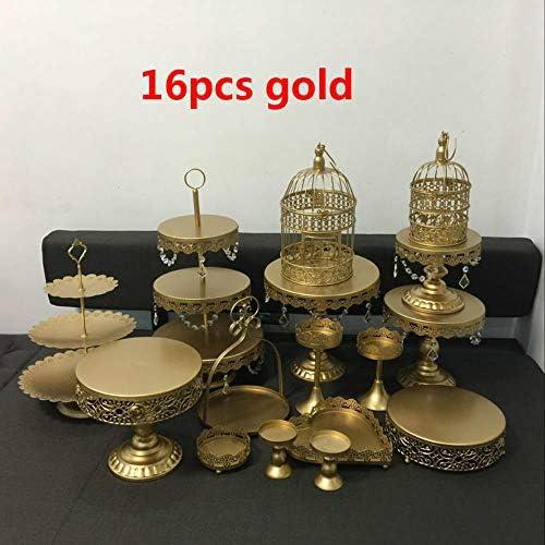 FSHB 16 Teile/los Gold hochzeitstorte Stand barware dekorieren Kochen Kuchen Werkzeuge backformen Set Party Geschirr