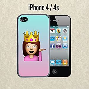 iphone covers iPhone Case Cute Funny Queen Emoji for Iphone 5c Rubber Black (Ships from CA)