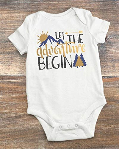 Baby Shower Present - Let the Adventure Begin - The Mountains Are Calling 3-6 Months