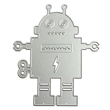 Mingo Cute Robot plantillas de corte diseño de metal molde para DIY Scrapbooking álbum de repujado papel Tarjeta: Amazon.es: Juguetes y juegos