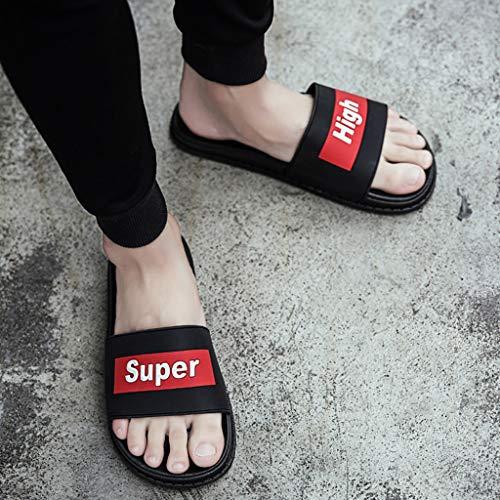 dérapant Plage Anti Taille Pantoufles Mot AMINSHAP Chaussures 43EU d'été de Red Couleur Gray Glisser 4YC8faqZwx