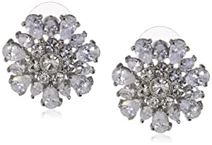 "Carolee ""Uptown Girl"" Large Button Earrings"