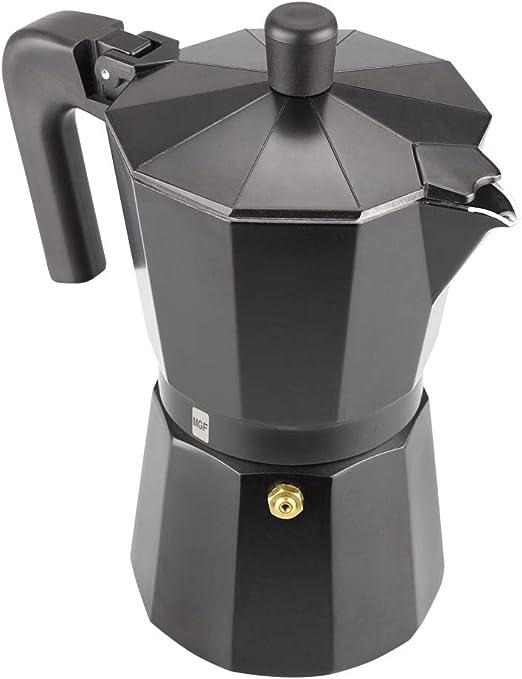 Magefesa 01PACFKEB06 - Cafetera modelo KENIA NOIR en aluminio esmaltador, 6 tazas: Amazon.es: Hogar