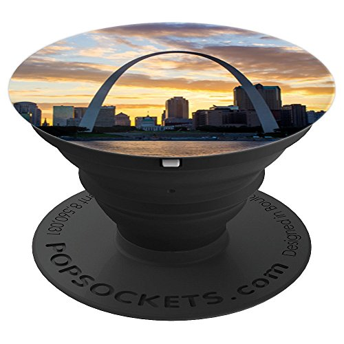 St. Louis Arch & Skyline - PopSockets Grip and Stand for Phones and Tablets