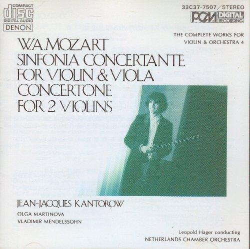 Mozart: Sinfonia Concertante for Violin & Viola (The Complete Works For Violin & Orchestra, Vol. - Netherland Allegro