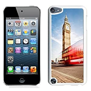 NEW Unique Custom Designed iPod Touch 5 Phone Case With London Big Ben Double Decker_White Phone Case