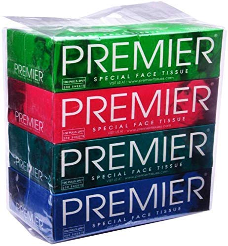 Premierr Face Tissues Box  Pack of 4