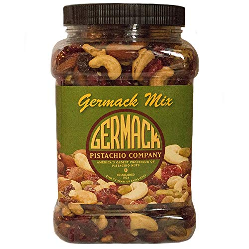 Germack Pistachio Company, Germack Mix Fruit Nut Snack, Dried Cherries and Cranberries, Cashews, Almonds, Pistachios, 30 Ounce