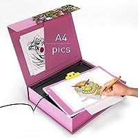 LED Light Box - LED Tracing Pad - LED Light Board - A4 USB Power Ultra Thin Portable Tracing Light Box Pad Board Table