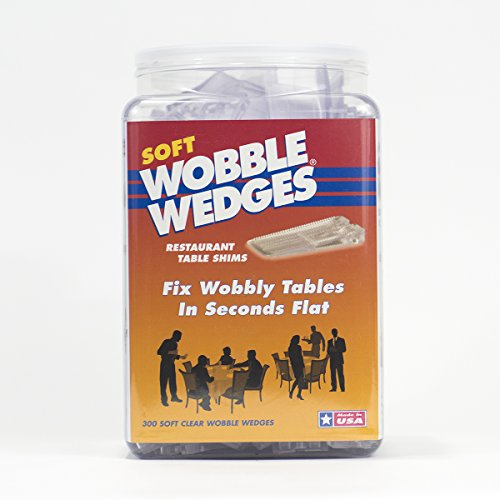 Wobble Wedges Multi-Purpose Shims–Soft Clear 300 ea –Easy to Trim –Protect Delicate Surfaces –Level Restaurant Tables, Household Furniture and Plumbing Fixtures –Use as Clamping Pad on Angled Surface