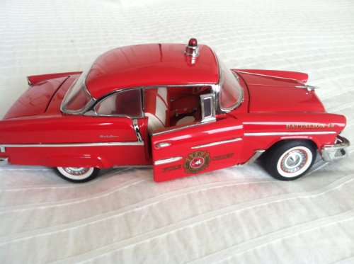 Franklin Mint Car 1955 Chevrolet Bel Air Fire Chief Special 1:24