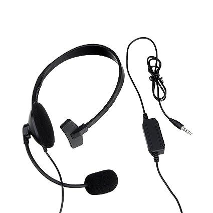 amazon com gaming headset wired unilateral mono chat headphones rh amazon com