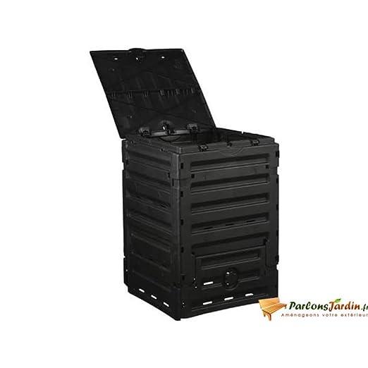 Compostador de plástico negro 300L: Amazon.es: Hogar